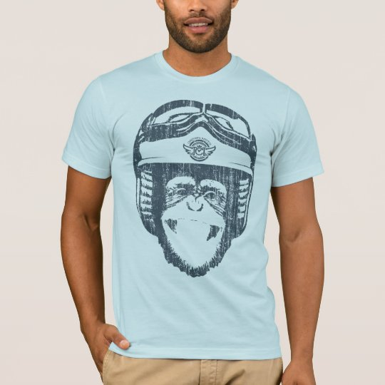 Happy Moto Monkey (vintage slate) T-Shirt