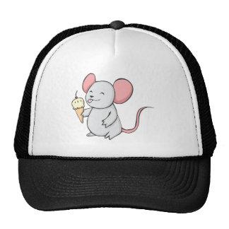 Happy Mouse Eating Ice Cream Cap
