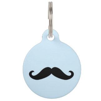 Happy Moustache Pet ID Tag