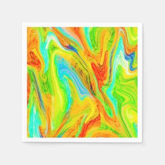 Happy Multicolor Painting Disposable Serviettes