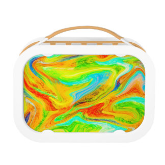 Happy Multicolor Painting Lunch Box