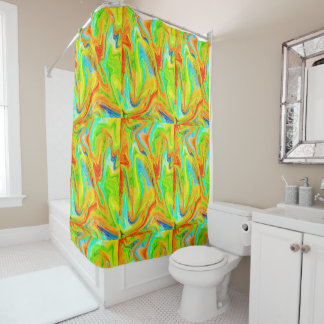 Happy Multicolor Painting Shower Curtain