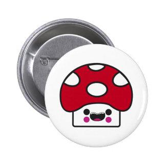Happy Mushroom Pinback Button