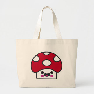 Happy Mushroom Canvas Bag