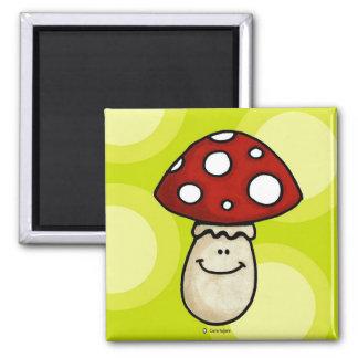 happy mushroom magnet