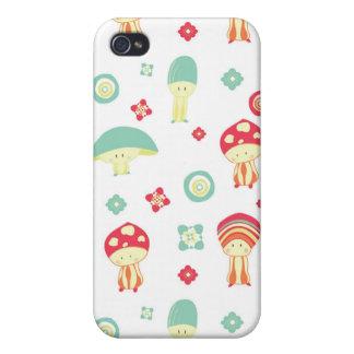 Happy Mushroom pattern iPhone 4 Case