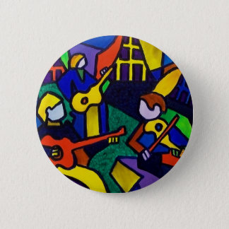 Happy Music 6 Cm Round Badge