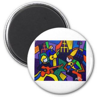 Happy Music 6 Cm Round Magnet