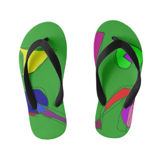 Happy Music Flip Flops