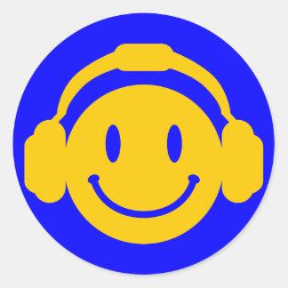 Happy_Music Round Sticker