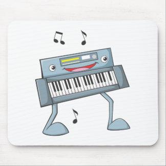 Happy Musical Keyboard Performer Mousepad