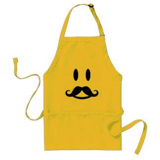 Happy Mustache Smiley apron - choose style & color