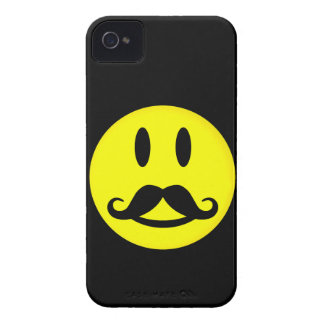 Happy Mustache Smiley Blackberry Bold case