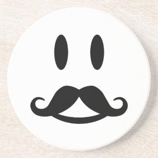 Happy Mustache Smiley custom coaster