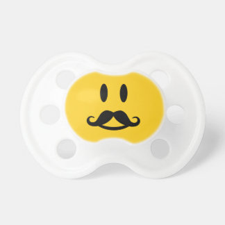 Happy Mustache Smiley custom pacifiers