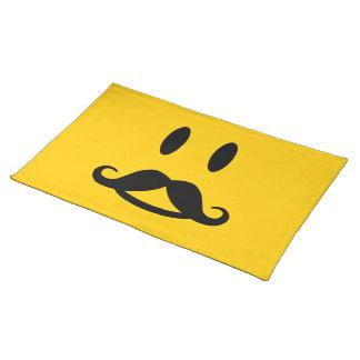 Happy Mustache Smiley custom placemat