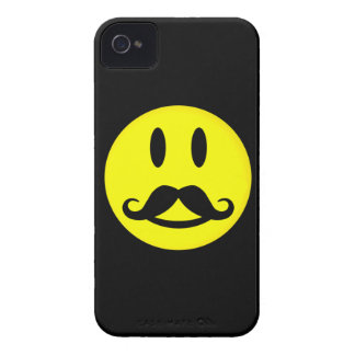Happy Mustache Smiley iPhone 4 case-mate