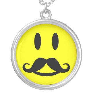 Happy Mustache Smiley necklace