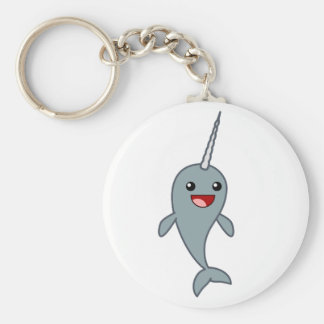 Happy Narwhal Key Ring