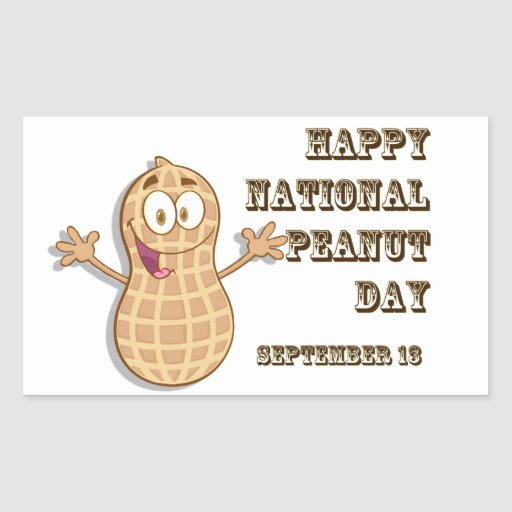 Happy National Peanut Day September 13 Rectangle Stickers