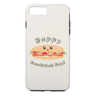 Happy National Sandwich Day Cute And Kawaii iPhone 8 Plus/7 Plus Case