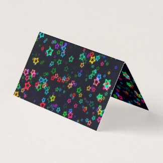 Happy Neon Star Business Card