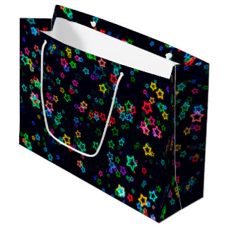 Happy Neon Star Large Gift Bag