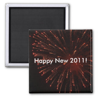 Happy New 2011 fireworks magnet