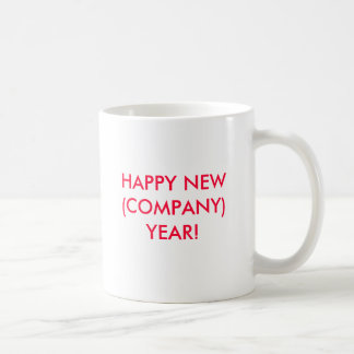HAPPY NEW (COMPANY) YEAR! BASIC WHITE MUG