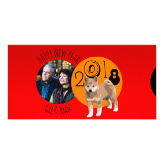 Happy New Dog Year 2018 frame Photo Card