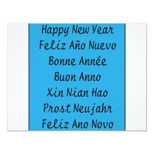 ** Happy New Year ** 11 Cm X 14 Cm Invitation Card