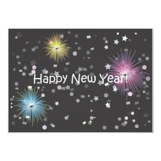 Happy New Year! 13 Cm X 18 Cm Invitation Card