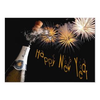 Happy New Year 13 Cm X 18 Cm Invitation Card