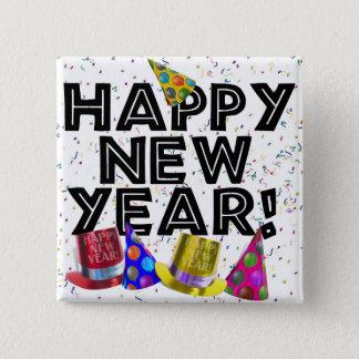 HAPPY NEW YEAR! 15 CM SQUARE BADGE