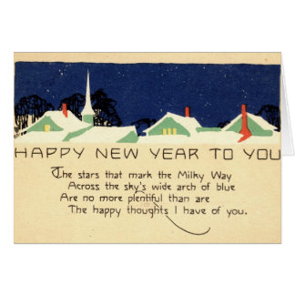 Happy New Year 1915 Vintage Greeting Card