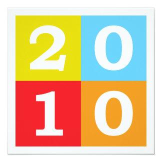 Happy New Year 2010 13 Cm X 13 Cm Square Invitation Card