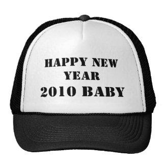 HAPPY NEW YEAR 2010 BABY TRUCKER HATS