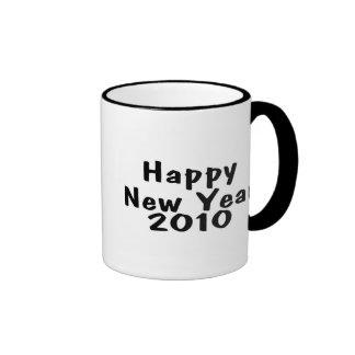 Happy New Year 2010 Black Mug