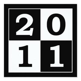 Happy New Year 2011 13 Cm X 13 Cm Square Invitation Card