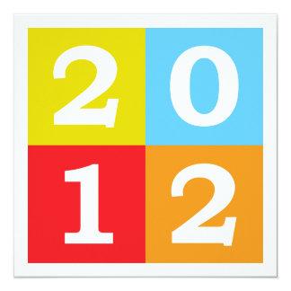 Happy New Year 2012 13 Cm X 13 Cm Square Invitation Card