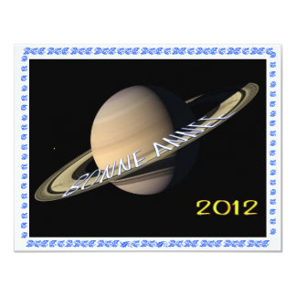HAPPY NEW YEAR 2012 HAPPY NEW YEAR 11 CM X 14 CM INVITATION CARD