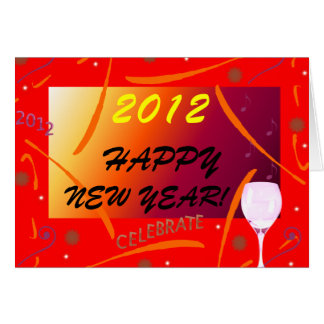 Happy New Year! 2012 Note Card