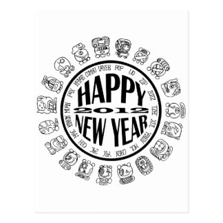 happy new year 2012 postcard