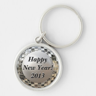 Happy New Year 2013 Fun Disco Mirrorball Keychain