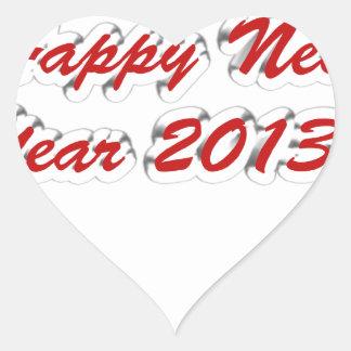 Happy New Year 2013 Heart Sticker