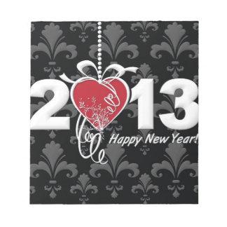 Happy New Year 2013 Notepad