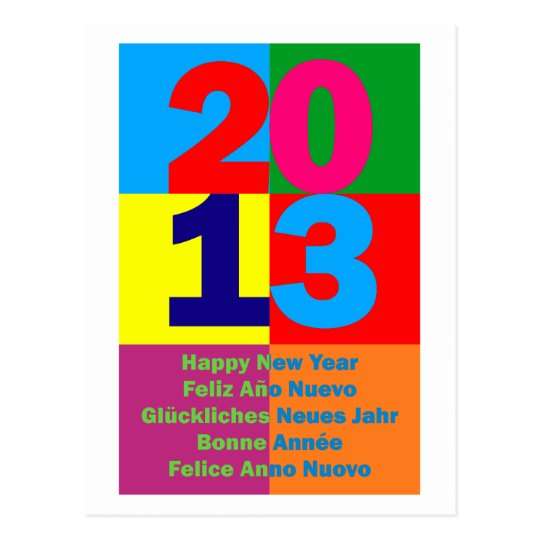Happy new Year 2013 Postcard
