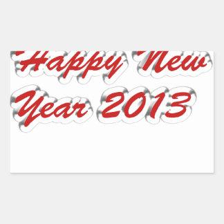 Happy New Year 2013 Rectangular Sticker