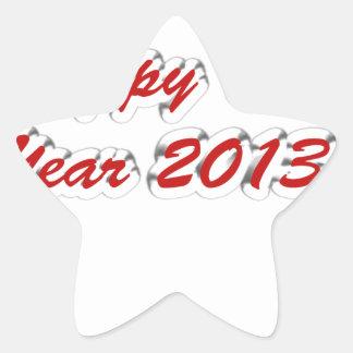 Happy New Year 2013 Star Sticker