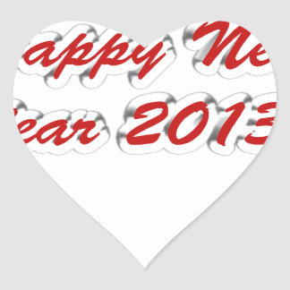 Happy New Year 2013 Heart Stickers